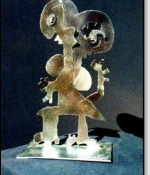 Figure Girl Metal Sculpture Sold