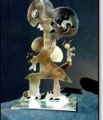 Figure Girl Metal Sculpture Sold