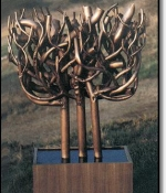 Menorah Metal Sculpture Sold