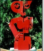 RedLady Metal Sculpture Sold