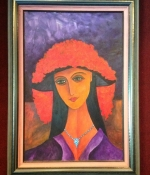 woman-with-hat-and-necklace-26x37
