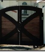 Iron Teak Gates - Sold