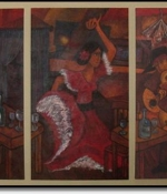 Flamenco Triptic Original Sold