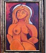 nude with halo original sold