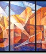 sedona landscape triptic 2 original sold