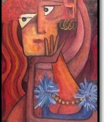 woman in repose Original Sold